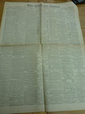 1926 May 12 The Times Newspaper General Strike Edition 4 Page Original