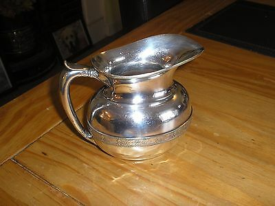 Antique TIFFANY & CO Silver Plated JUG Fancy Scroll Centre Band Decoration