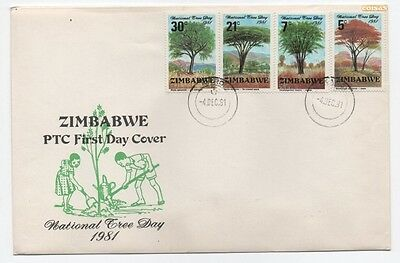 Cover Fdc Zimbabwe National 3 Day 1981