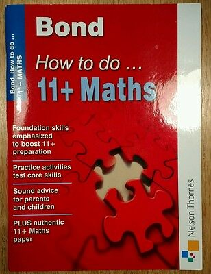 Bond How To Do 11+ Maths, Heesom, Elisabeth Pamphlet Book The Cheap Fast Free