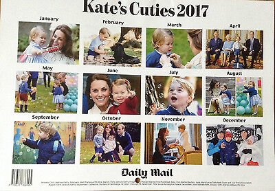 Kate's Cuties Calendar 2017. Pictures of Prince George & Princess Charlotte. NEW
