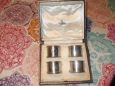 Solid Silver Napkin Rings  Mappin And Webb 1927