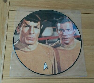 RARE Star Trek The Cage / Where No Man 1986 UK Picture Disc LP NCPX706 Sci Fi