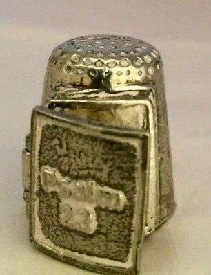 Stephen Frost Warwick Model Pewter Thimble - Psalm 23 decoration