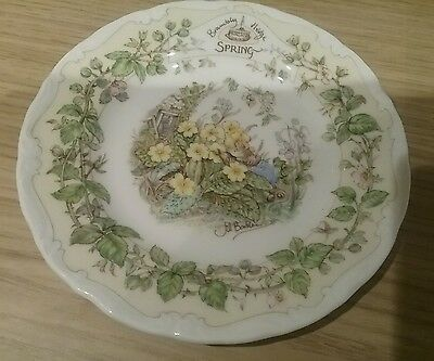 "Bramley Hedge ' Spring ' Plate - 6"" Tea Plate Royal Doulton 1983"