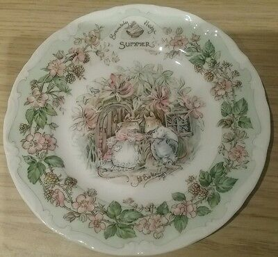 "Bramley Hedge ' Summer ' Plate - 6"" Tea Plate Royal Doulton 1983"
