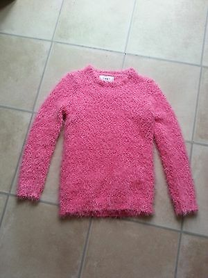 Pink Soft Fluffy Jumper Age 10/11 Years