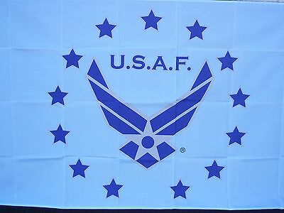 UNITED STATES AIR FORCE MILITARY FLAG 3'x5' SKY BLUE WING MADE USA