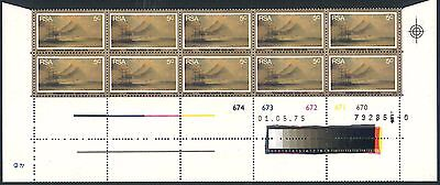 """South Africa 1975 """"Baines"""" Set of (4) x Double Row Control Blocks (SG 379 - 382)"""