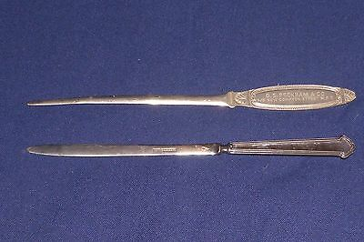 2 Vintage Letter Openers - 1 Advertising Electrical Wholesalers