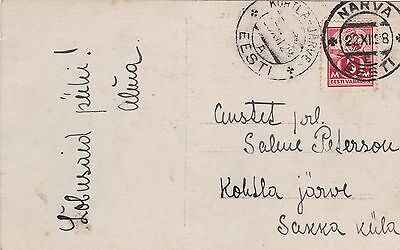 Estonia 1928 Actress PC From Narva to Kohtla Jarve 5m Rate