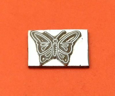 HOT FOIL PRINTING PLATE 8 gauge -  Butterfly 27 x 21mm #220