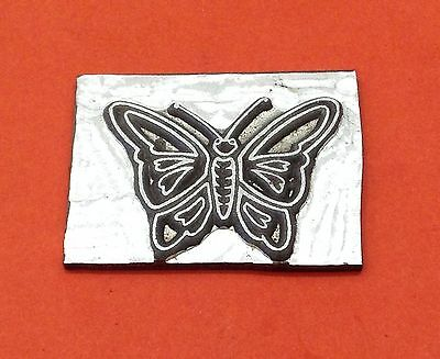 HOT FOIL PRINTING PLATE 8 gauge -  Butterfly 39 x 30mm #219