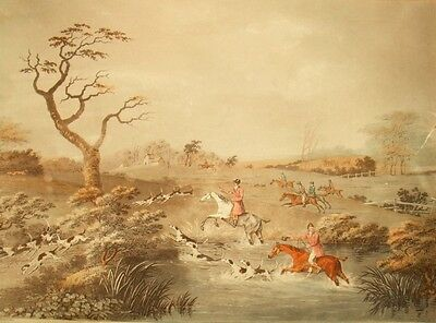 English hunting etching; Joseph Jeakes after D. Wolstenholme 1811