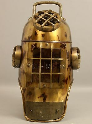 Vintage U.s Navy Diving Divers Helmet Solid Steel Full Size 18 Inch