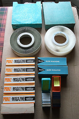 JOB LOT 35mm SLIDE CAROUSEL AND BOXES