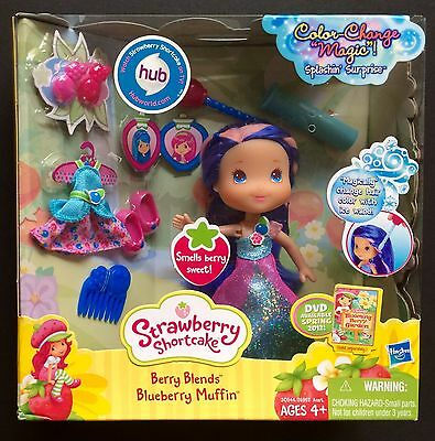 Strawberry Shortcake Berry Blends Blueberry Muffin Doll Color Change Magic New