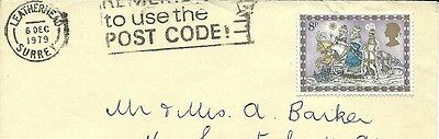 Addressed Envelope POST MARKED 1979 with 8p Christmas stamp
