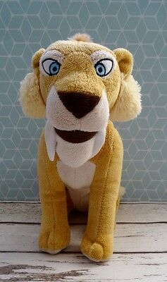 """ICE AGE 4 DIEGO THE Sabre Tooth Lion - 10"""" - Cuddly Soft Plush Toy - Excellent"""