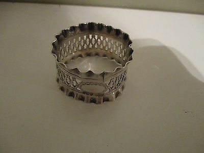 Fully Hallmarked Solid Silver Napkin Ring (Scrap) London 1923 (18g)
