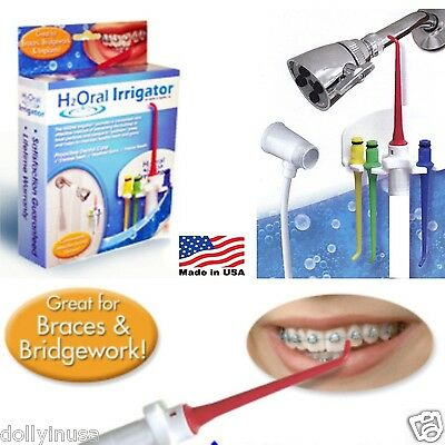 New H2Oral water Irrigator for gums and teeth easy way to floss in the shower