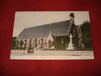 VINTAGE NEW ZEALAND: NEW PLYMOUTH St Mary's church colour tint