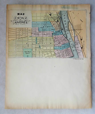 c.1860's MAGNUS LITHO LETTERSHEET WITH MAP OF ALBANY NEW YORK
