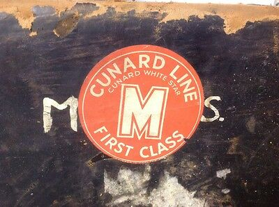 Cunard White Star Vintage leather  suitcase