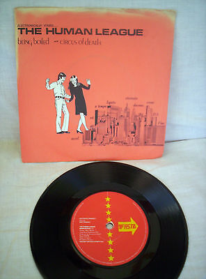 The Human League, Being Boiled ,circus Of Death, 1978,  Excellent Condition