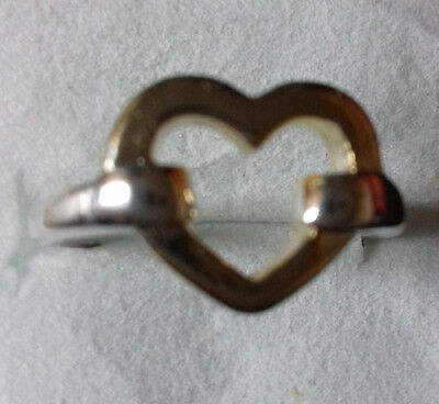 Wholesale .925 Solid Sterling Silver Ring With A Gold Heart In The Centre.