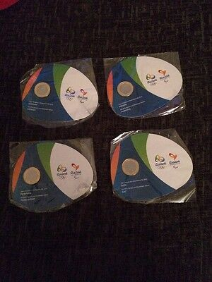 Official Rio 2016 Olympic 17 Coin Set Complete With Handover Coin... Bu