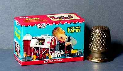 Dollhouse Miniature Fisher Price Play Family Farm Toy Box nursery toy 1:12 scale