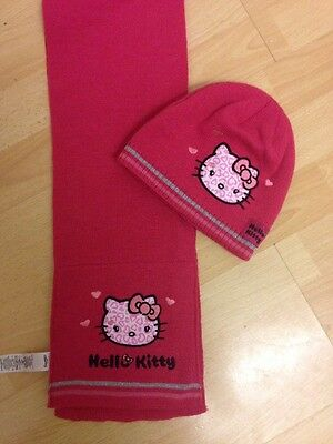Used Pink Hello Kitty Scarf And Hat From George. 4-8years