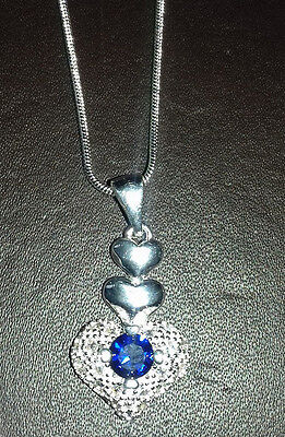 """Wholesale .925 Sterling Silver 22""""  Necklace And Heart Shaped Pendant & Giftbox."""