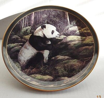 """The Panda Bear """"Great Bears Of The World"""" Series By Trevor Swanson Plate # 579"""