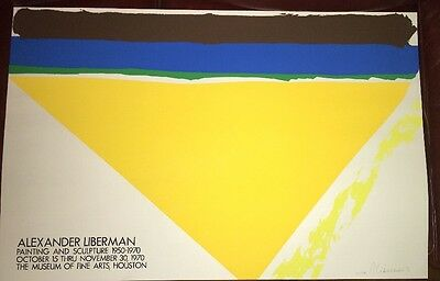 Alexander Liberman Art Museum Exhibit Poster 1970 Signed And Numbered