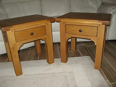 Oak Side Table with drawer Marks & Spencer
