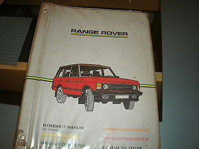 Range Rover Workshop Manual 1986 On came with my TACRII