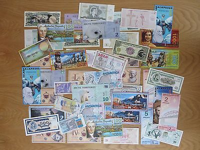 Lot of 46 novelty notes.