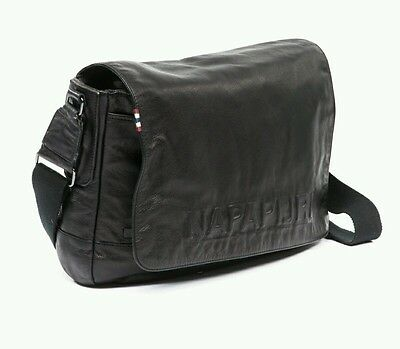 best place official speical offer KAMO bag leather business TRACOLLA NAPAPIJRI nera pelle ...