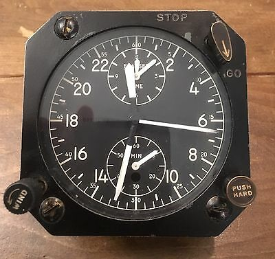 Very Rare Breitling Aircraft Clock Made By Wakmann Watch Co In New York