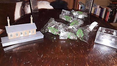 Small Job Lot N Gauge railway items and Oxford Diecast car