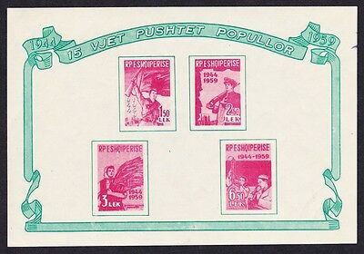Albania 15th Anniversary of Liberation MS SG#MS635a SC#551a
