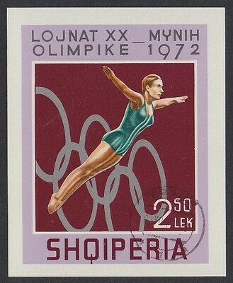 Albania High Diving Summer Olympic Games Munich MS CTO SG#MS1530 SC#1440
