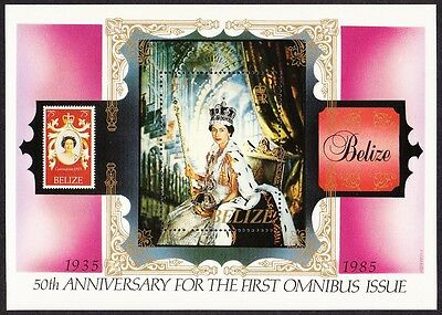 Belize 50th Anniversary of the First Omnibus Issue MS SG#MS845