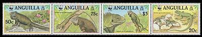 Anguilla WWF West Indian Iguana Strip of 4v SG#1004/07 SC#968 a-d MI#988-91