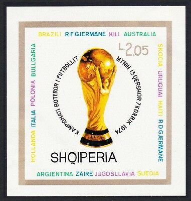 Albania World Cup Football Championship 2nd issue MS imperf MH SG#MS1671 SC#1578