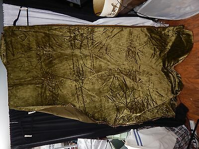 vintage victorian velvet fabric upholstery craft doll bear green heavy  scrap