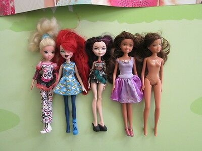 Mixed Lot of 5 Mattel, MGA & other dolls