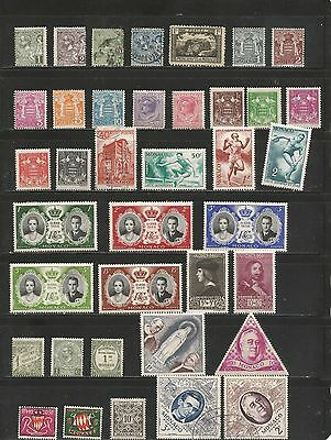 Nice lot MNH- Mh/used Monaco- 1900's-1982 inc BOB-Nice Cancels-Souvenir Sheet